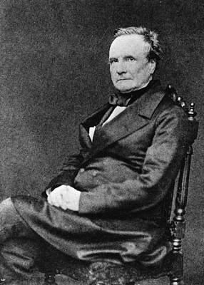 Charles Babbage Art Print by Hulton Archive