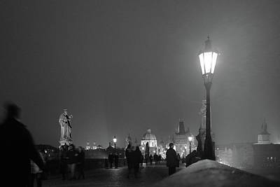Photograph - Charles Bridge At Night by Mark Duehmig