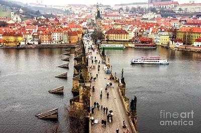 Photograph - Charles Bridge Prague by John Rizzuto