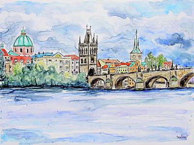 Painting - Charles Bridge by Shaina Stinard