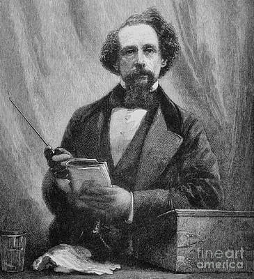 Drawing - Charles Dickens, 1858  by English School