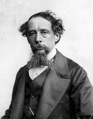 Charles Dickens Art Print by Rischgitz