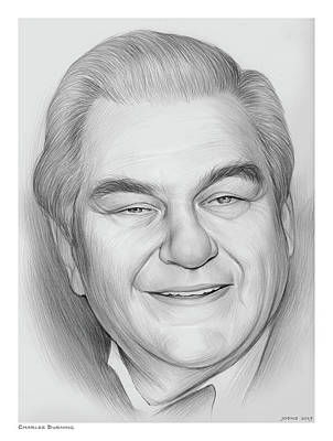 Wine Glass - Charles Durning by Greg Joens
