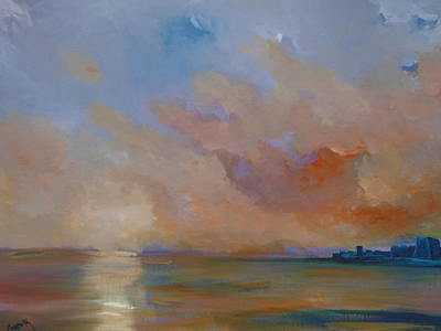 Painting - Charles Fort Kinsale Below A Painted Sky by Conor Murphy