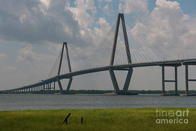 Photograph - Charleston Bridge Over The Cooper River by Dale Powell