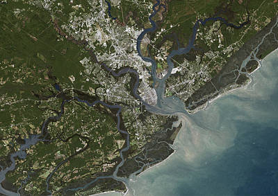 Photograph - Charleston City, South Carolina, Us by Planet Observer