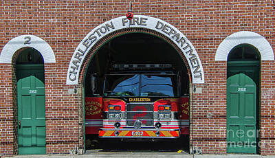 Photograph - Charleston Fire Department - 2 by Dale Powell
