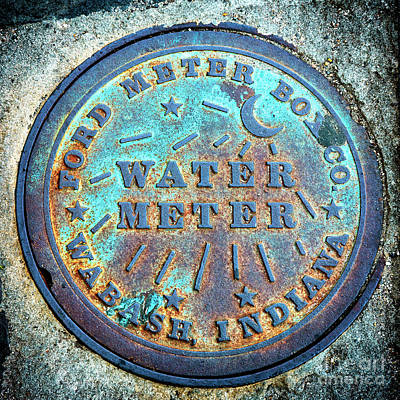 Photograph - Charleston Water Meter Built In Wabash by John Rizzuto