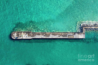 Royalty-Free and Rights-Managed Images - Charlevoix Breakwall and Blue Water by Twenty Two North Photography