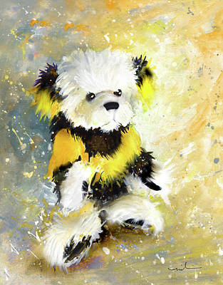 Painting - Charlie Bear Scoop by Miki De Goodaboom
