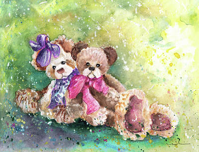 Painting - Charlie Bearsjessica And Jamie by Miki De Goodaboom