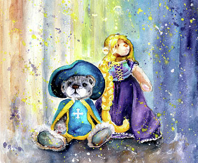 Painting - Charlie Bears Faux Pas And Princess by Miki De Goodaboom