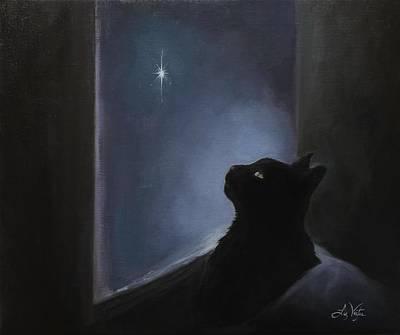 Painting - Charlie's Christmas Spirit by Liz Viztes