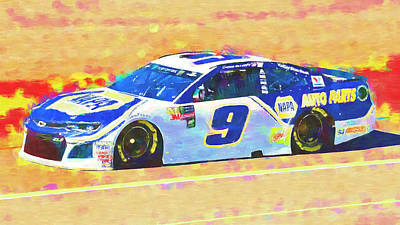 Mixed Media Royalty Free Images - Chase Elliott Royalty-Free Image by David Ridley