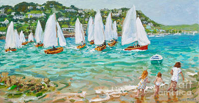 Painting - Chasing The Boats, Salcombe  by Andrew Macara