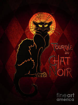 Digital Art - Chat Noir by Shanina Conway