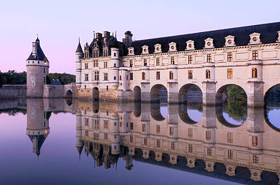 Symmetry Photograph - Chateau Chenonceau With Cher River by Hans Georg Eiben
