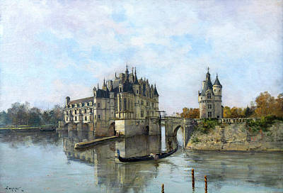 Painting - Chateau De Chenonceau - Emmanuel Lansyer by Weston Westmoreland