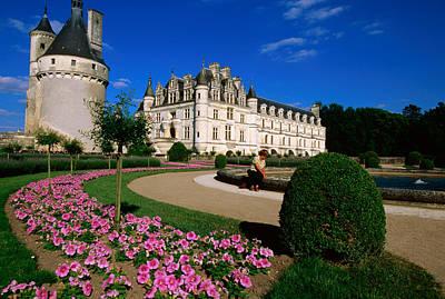 Chateau De Chenonceau With Catherine De Art Print