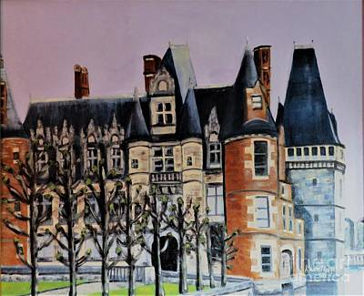 Painting - Chateau De Maintenon by Laurie Morgan