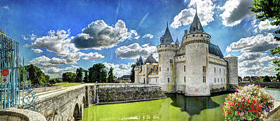 Photograph - Chateau De Sully Sur Loire Against The Sun - Vintage Version by Weston Westmoreland