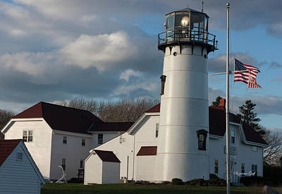 Photograph - Chatham Coast Guard Lighthouse Along The Cape by Suzanne Gaff
