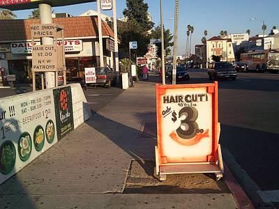 Photograph - Cheap Haircut Sign by Jim Steinfeldt