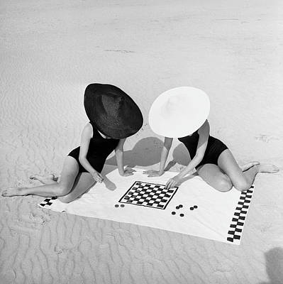 Human Interest Photograph - Checkers On The Beach by Jack Robinson