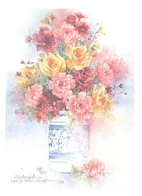 Wall Art - Painting - Cheer by Carolyn Shores Wright