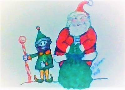 Drawing - Cheers From The North Pole by Denise F Fulmer