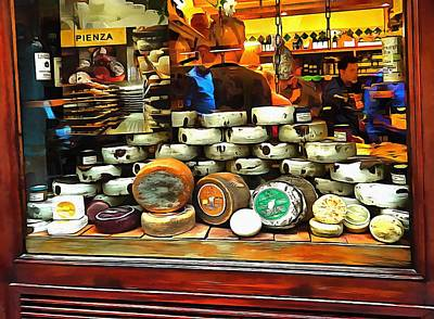 Photograph - Cheese Shop Window Display Pienza by Dorothy Berry-Lound