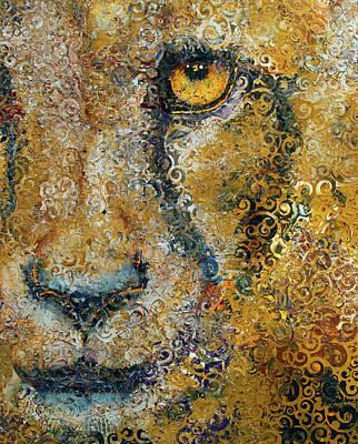 Persian Cat Wall Art - Painting - Cheetah by Michael Creese