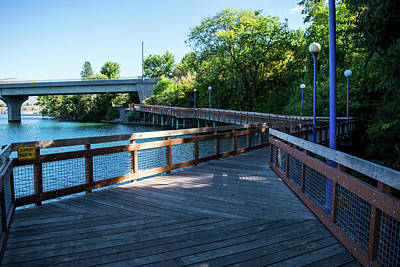 Photograph - Chelan Riverwalk Boardwalk by Tom Cochran