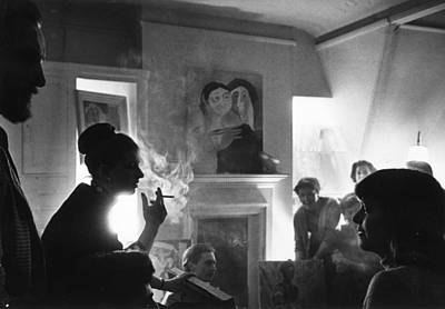 Photograph - Chelsea Party by Erich Auerbach