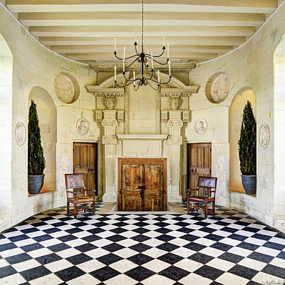 Photograph - Chenonceau Ball Room Square  by Weston Westmoreland
