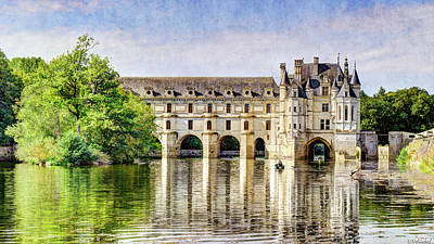 Photograph - Chenonceau From The East - Short Vintage by Weston Westmoreland