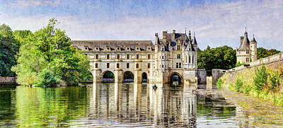 Photograph - Chenonceau From The East - Vintage by Weston Westmoreland