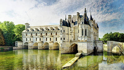 Photograph - Chenonceau From The North Bank Short Vintage by Weston Westmoreland