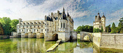 Photograph - Chenonceau From The North Bank - Vintage Version by Weston Westmoreland