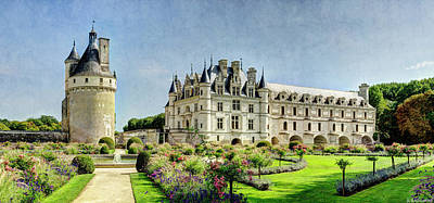 Photograph - Chenonceau From The Northwest - Vintage Version by Weston Westmoreland