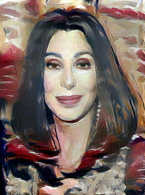 Digital Art - Cher by Richard Laeton