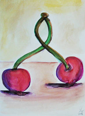 Painting - Cherries by Loretta Nash