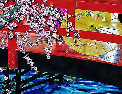 Photograph - Cherry Blossom Bridge by Dorothy Berry-Lound