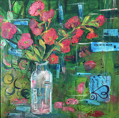 Mixed Media - Cherry Blossoms by Lee Bauman