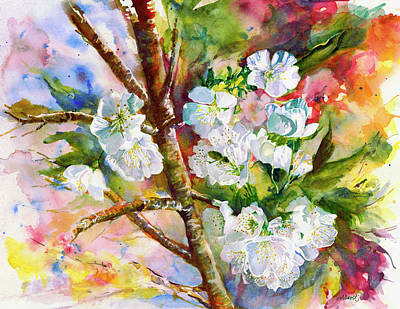 Painting - Cherry Blossoms by Lynn Marit Peterson