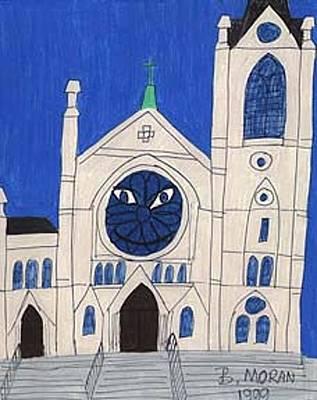 Drawing - Cheshire Church by Barb Moran