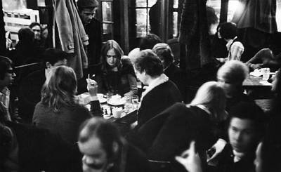 Photograph - Chess At Cafe Fiagro by Fred W. Mcdarrah