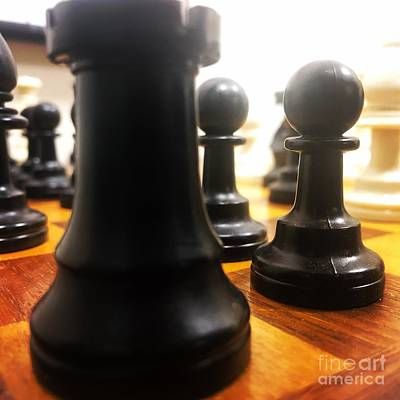 Modern Man Surf - Chess Perspective  by Justin Moore