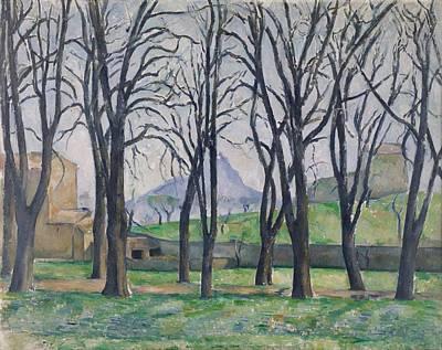 Water Droplets Sharon Johnstone - Chestnut Trees at the Jas de Bouffan 1885 87 by Paul Cezanne Paintings