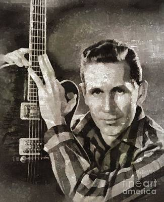 Music Paintings - Chet Atkins, Music Legend by Esoterica Art Agency